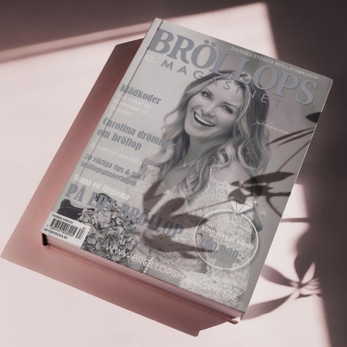 Reportage för Bröllopsmagasinet. Omslag med Carolina Gynning