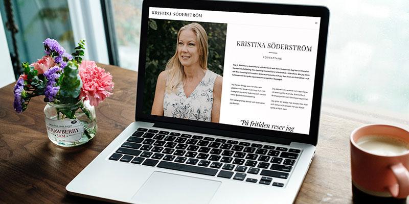 Författare Kristina Söderström webbplats