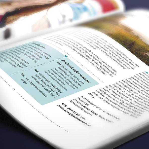 Handelskammaren Mittsverige grafisk formgivning av årsredovisning