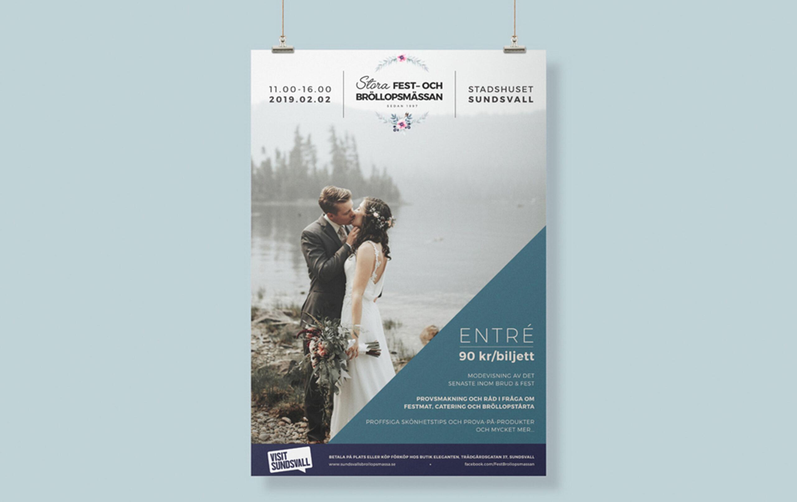 Stora fest- och bröllopsmässan affisch